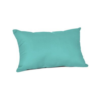 Outdoor Sunbrella Lumbar Pillow Color: Canvas Aruba, Size: 9 x 12