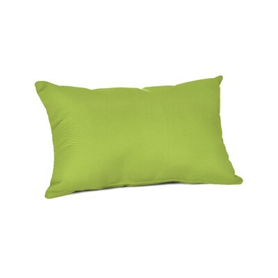 Outdoor Sunbrella Lumbar Pillow Color: Canvas Macaw, Size: 9 x 12