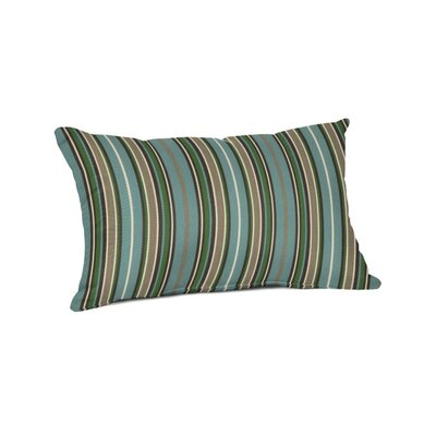 Outdoor Sunbrella Lumbar Pillow Color: Cilantro Stripe