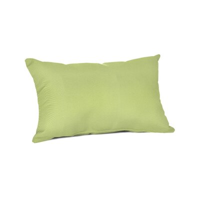 Outdoor Sunbrella Lumbar Pillow Color: Canvas Parrot, Size: 9 x 12