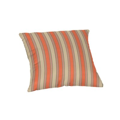 Outdoor Sunbrella Throw Pillow Color: Passage Poppy