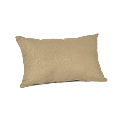 Outdoor Sunbrella Lumbar Pillow Color: Canvas Heather Beige