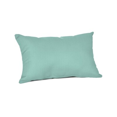 Outdoor Sunbrella Lumbar Pillow Color: Spectrum Mist, Size: 9 x 12