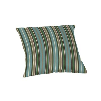 Outdoor Sunbrella Throw Pillow Color: Cilantro Stripe