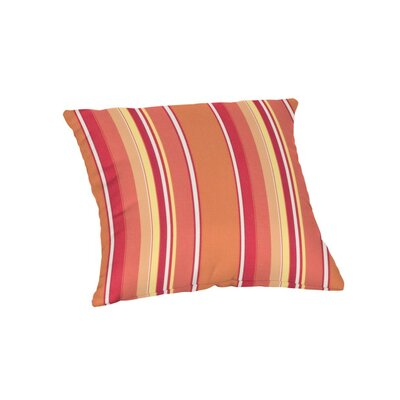 Outdoor Sunbrella Throw Pillow Color: Dolce Mango