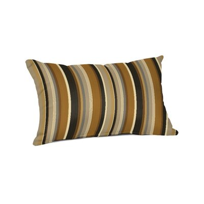 Outdoor Sunbrella Lumbar Pillow Color: Espresso Stripe