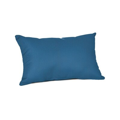 Outdoor Sunbrella Lumbar Pillow Color: Canvas Regatta, Size: 9 x 12