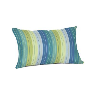 Outdoor Sunbrella Lumbar Pillow Color: Seville Seaside