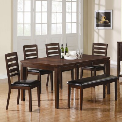 Wildon home choate dining table in black cst9631 for Wildon home dining