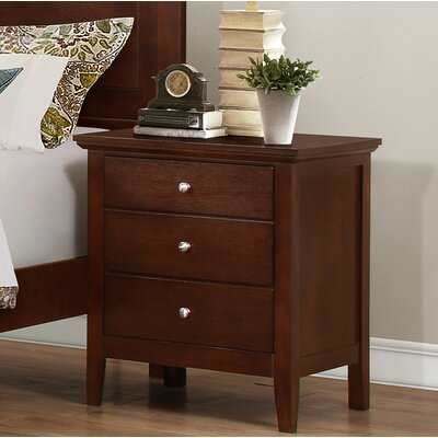 Taube 3 Drawer Nightstand Color: Brown