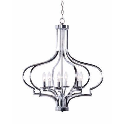 Soussi 6-Light Foyer Pendant Finish: Chrome