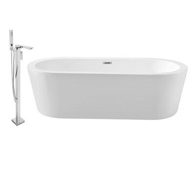 "67"" x 32"" Freestanding Soaking Bathtub NH361-140"