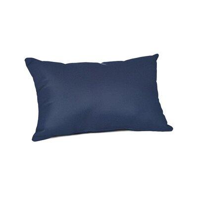 Outdoor Sunbrella Lumbar Pillow Color: Canvas Navy, Size: 20 x 13
