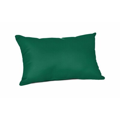 Outdoor Sunbrella Lumbar Pillow Color: Canvas Forest Green, Size: 20 x 13