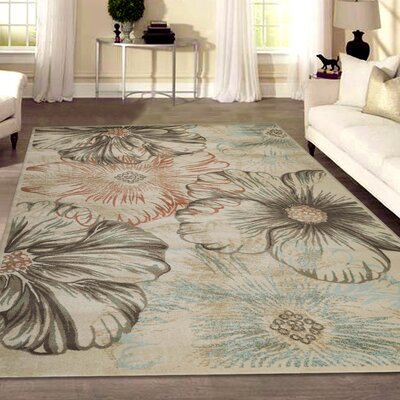 Garda Cream Area Rug Rug Size: Rectangle 33 x 411