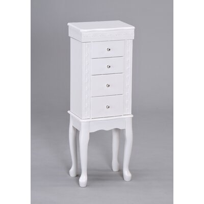 Wildon Home Didi Jewelry Armoire in White at Sears.com