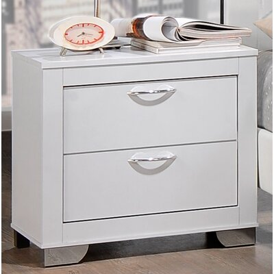 Belding 2 Drawer Nightstand Color: White