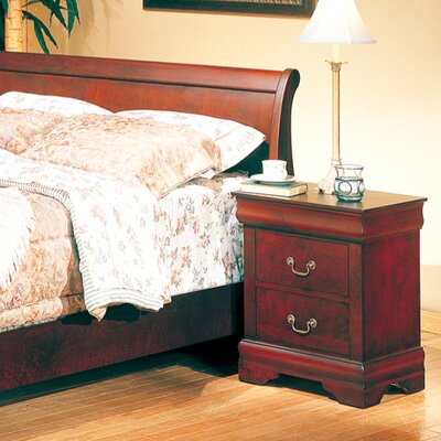 In store financing Louis 2 Drawer Nightstand...
