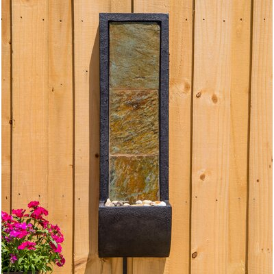 Natural Stone Cocora Indoor Wall Fountain with Light