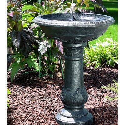 Fiberglass Solar Oasis Bird Bath Water Fountain