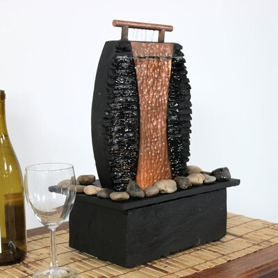 Slate Flowing Falls Indoor Water Fountain with Light