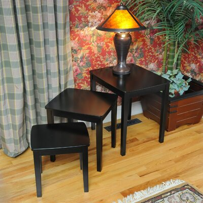 Bay Shore 3 Piece Nesting Tables Finish: Black