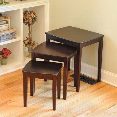 Bay Shore 3 Piece Nesting Tables Finish: Espresso