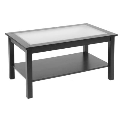 Bay Shore Coffee Table with Glass Top Finish: Black