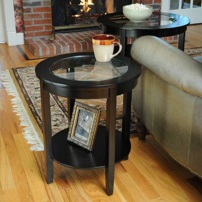 Lease to own Bay Shore End Table Finish: Black...