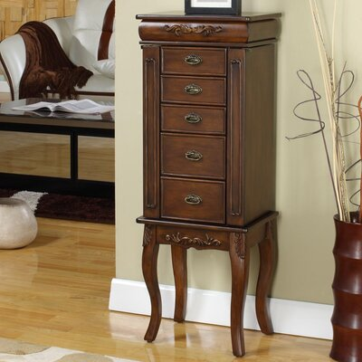 Moser Jewelry Armoire with Mirror Color: Coffee