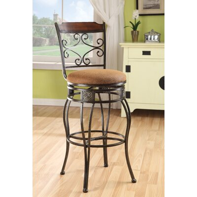 Credit for Tavio Diamond Back Swivel Barstool ...