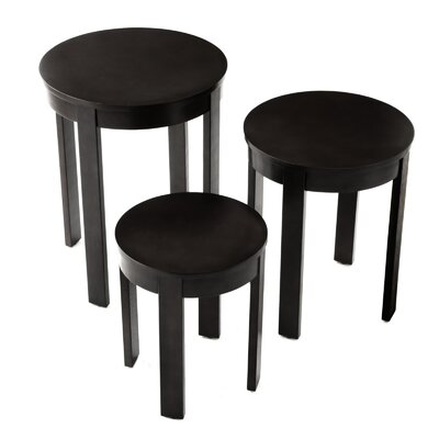 Bay Shore 3 Piece Nesting Tables Color: Black