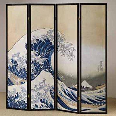 Buy Low Price Wildon Home 4 Panel Fukusai Wave Shoji Screen Room