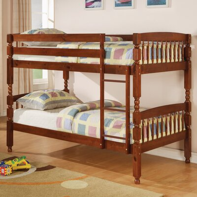 Creekside Twin over Twin Bunk Bed Color: Medium Pine