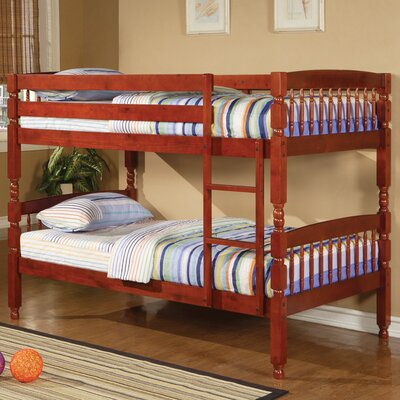 Creekside Twin over Twin Bunk Bed Color: Cherry