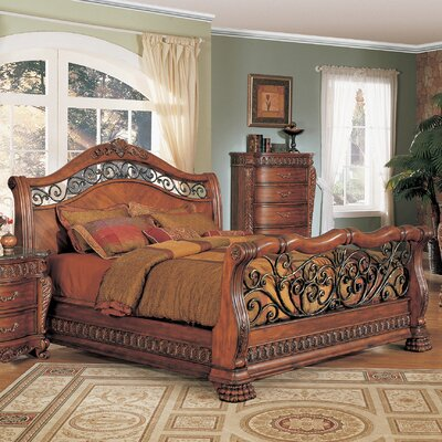 Buy Low Price Wildon Home Nicholas Sleigh Bedroom Collection Bedroom Set Mart