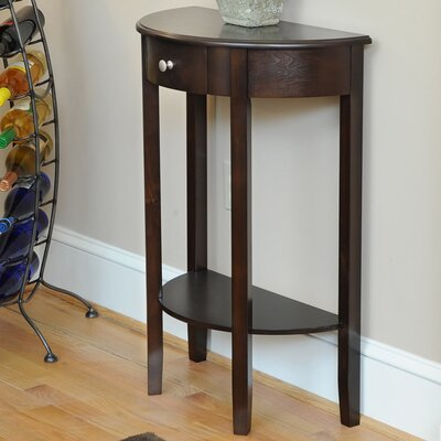 Bay Shore Half Moon Console Table Finish: Espresso