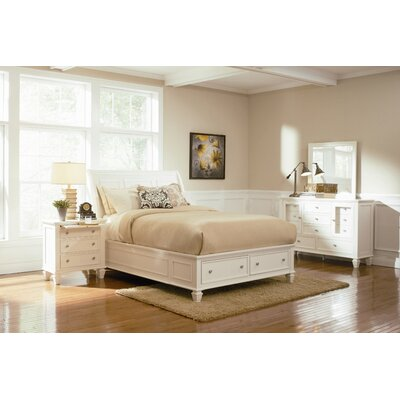 Loan for furniture Alexia Sleigh Bed Size: California ...