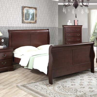 No credit check financing Greenville Sleigh Bed Size: King, F...
