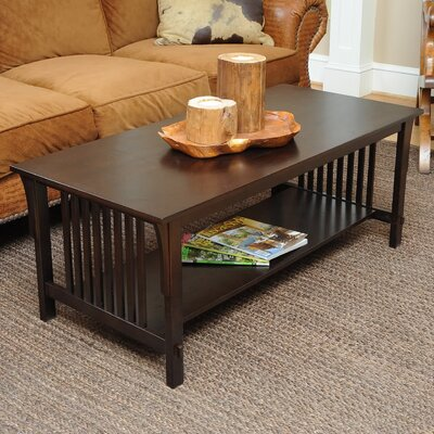 Bay Shore Mission Coffee Table Color: Espresso