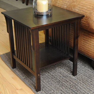 Bay Shore Mission End Table Color: Espresso