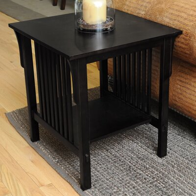 Bay Shore Mission End Table Finish: Black
