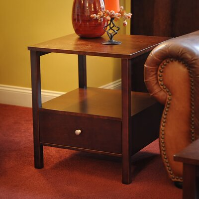 Bay Shore End Table Color: Espresso