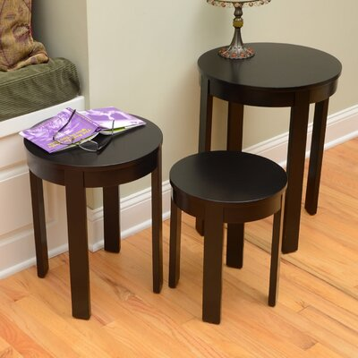 Bay Shore 3 Piece Nesting Tables Color: Espresso