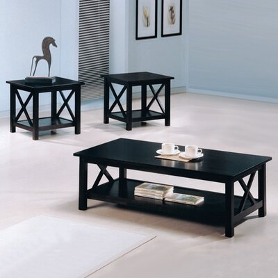 Donny 3 Piece Coffee Table Set Color: Dark Merlot