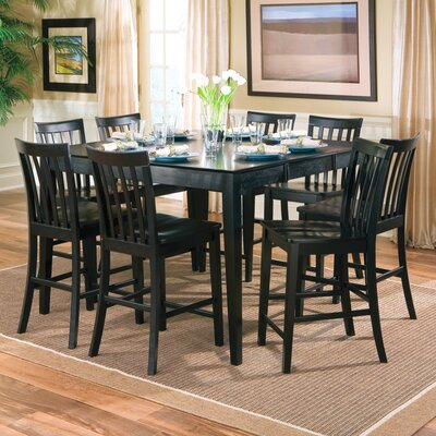 Lakeside Counter Height Extendable Dining Table Finish Rich Black