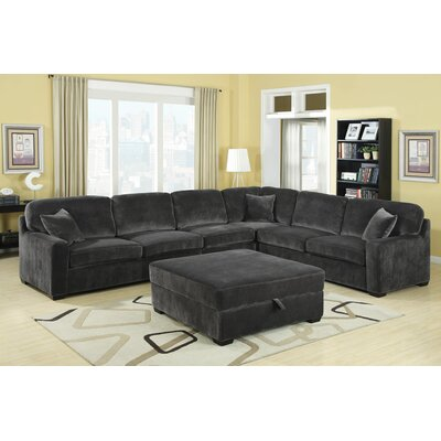 Wildon Home Bromley Velvet Sectional - Color: Charcoal at Sears.com