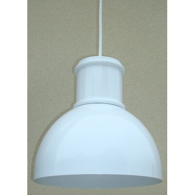 Turin Metal Pendant Light Finish: White