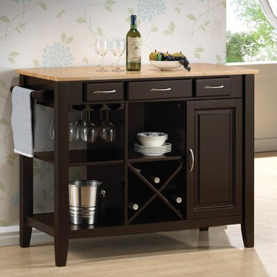Easy financing Kitchen Island with Butcher Block...