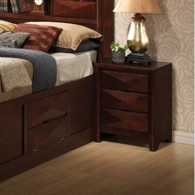 Easy financing Prescott 3 Drawer Nightstand...
